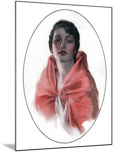 """Woman in Shawl,""June 16, 1923-Rolf Armstrong-Mounted Giclee Print"