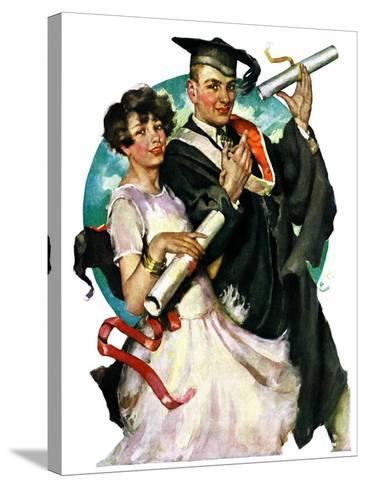 """""""Graduating Couple,""""June 11, 1927-Ellen Pyle-Stretched Canvas Print"""