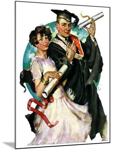 """Graduating Couple,""June 11, 1927-Ellen Pyle-Mounted Giclee Print"