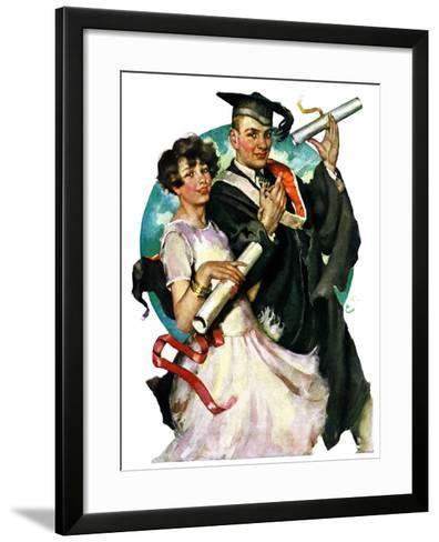 """Graduating Couple,""June 11, 1927-Ellen Pyle-Framed Art Print"