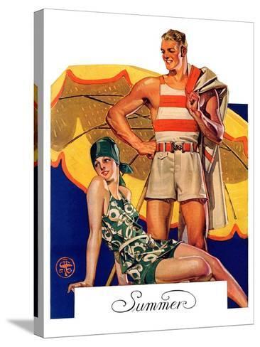 """Summertime, 1927,""August 27, 1927-Joseph Christian Leyendecker-Stretched Canvas Print"