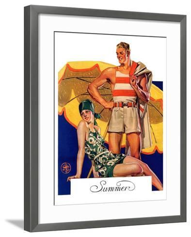 """""""Summertime, 1927,""""August 27, 1927-Joseph Christian Leyendecker-Framed Art Print"""