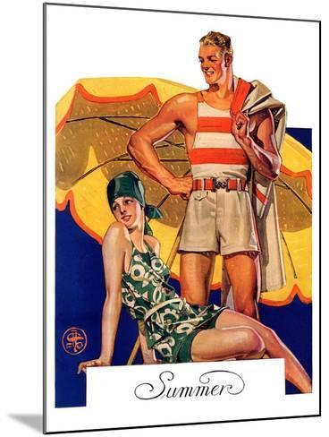 """Summertime, 1927,""August 27, 1927-Joseph Christian Leyendecker-Mounted Giclee Print"