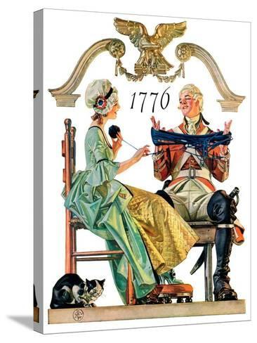 """Truce,""July 4, 1931-Joseph Christian Leyendecker-Stretched Canvas Print"