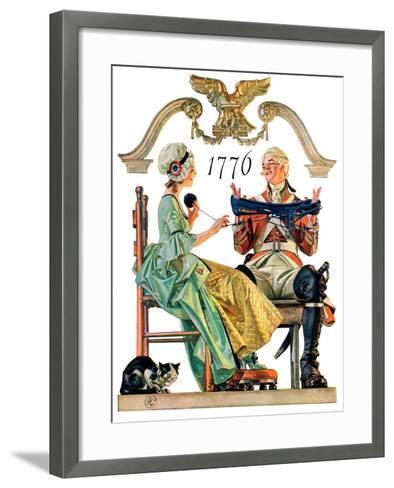 """""""Truce,""""July 4, 1931-Joseph Christian Leyendecker-Framed Art Print"""