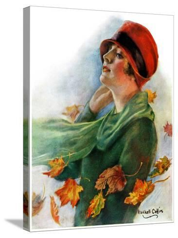 """""""Fall Leaves,""""November 5, 1927-William Haskell Coffin-Stretched Canvas Print"""