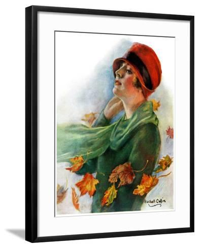 """""""Fall Leaves,""""November 5, 1927-William Haskell Coffin-Framed Art Print"""