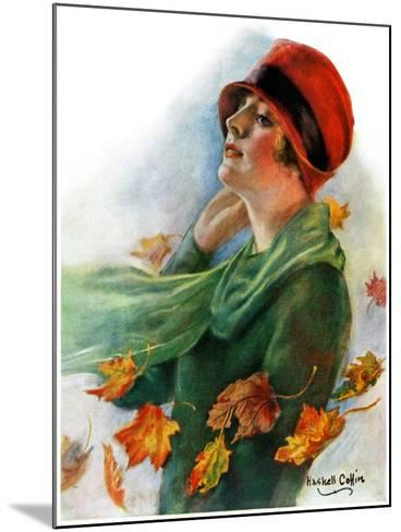 """""""Fall Leaves,""""November 5, 1927-William Haskell Coffin-Mounted Giclee Print"""