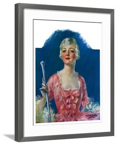 """Costumed Woman,""December 10, 1927-William Haskell Coffin-Framed Art Print"