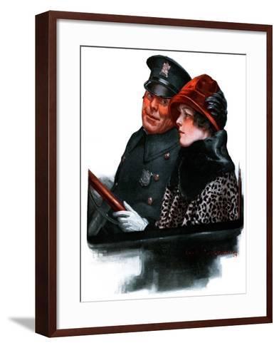 """Police Escort,""March 15, 1924-Charles A. MacLellan-Framed Art Print"