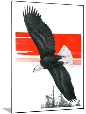 """""""Soaring Eagle,""""March 22, 1924-Charles Bull-Mounted Giclee Print"""