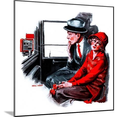 """""""Taxi Cab,""""April 26, 1924-Neil Hott-Mounted Giclee Print"""