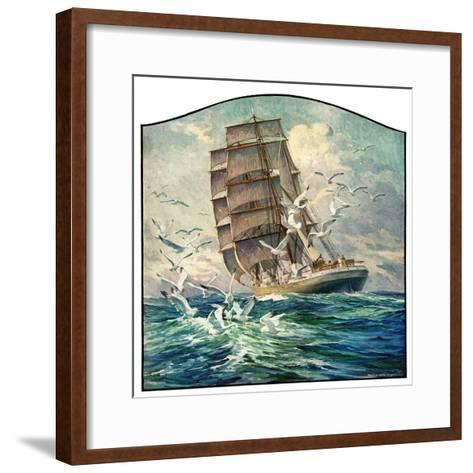 """Storm at Sea,""October 31, 1931-Anton Otto Fischer-Framed Art Print"