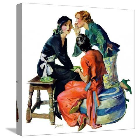 """Gossiping,""December 5, 1931-John LaGatta-Stretched Canvas Print"