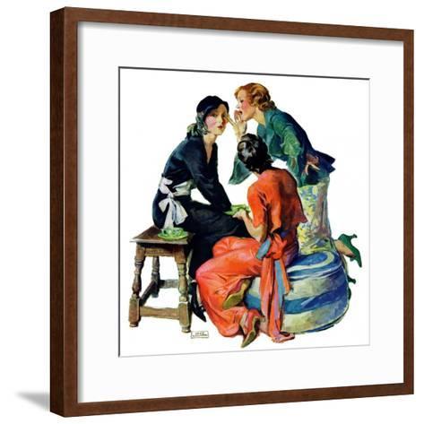 """""""Gossiping,""""December 5, 1931-John LaGatta-Framed Art Print"""