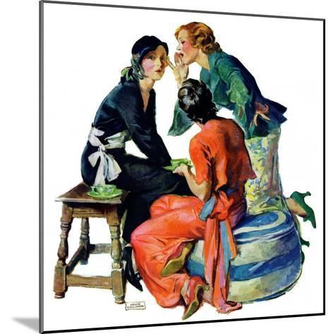 """Gossiping,""December 5, 1931-John LaGatta-Mounted Giclee Print"