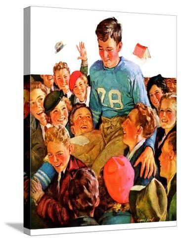 """Football Hero,""November 17, 1934-Eugene Iverd-Stretched Canvas Print"