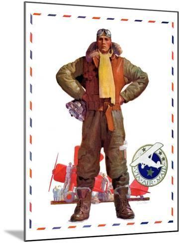 """Airmail Pilot,""December 8, 1934-John E^ Sheridan-Mounted Giclee Print"