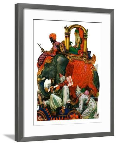 """""""Circus Parade,""""June 16, 1928-Elbert Mcgran Jackson-Framed Art Print"""