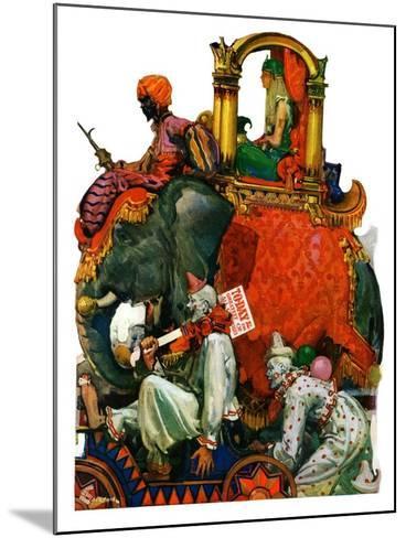 """Circus Parade,""June 16, 1928-Elbert Mcgran Jackson-Mounted Giclee Print"
