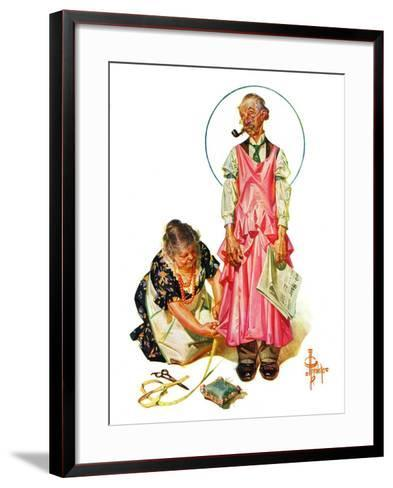 """""""Living Mannequin,""""March 5, 1932-Joseph Christian Leyendecker-Framed Art Print"""