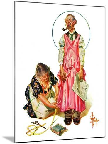 """Living Mannequin,""March 5, 1932-Joseph Christian Leyendecker-Mounted Giclee Print"