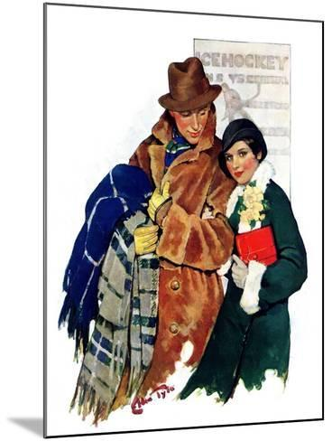 """""""Date at Hockey Game,""""March 12, 1932-Ellen Pyle-Mounted Giclee Print"""