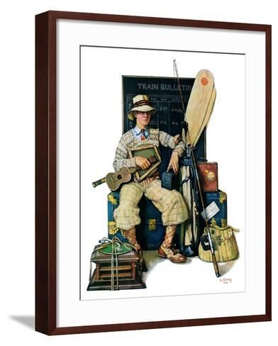 """""""Going Home from Camp,""""August 11, 1928-Lawrence Toney-Framed Art Print"""