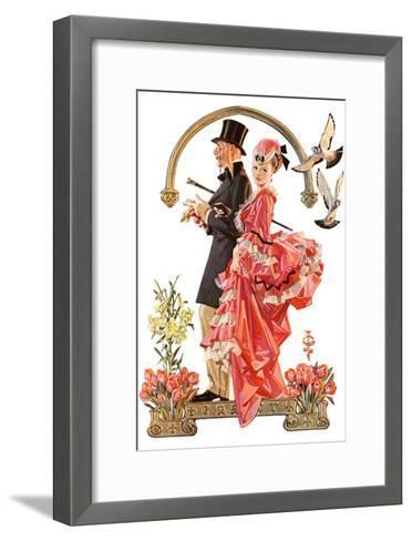"""""""Easter Promenade,""""March 26, 1932-Joseph Christian Leyendecker-Framed Art Print"""