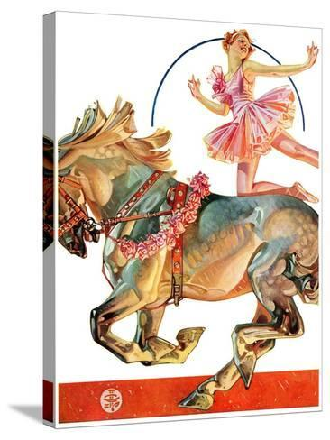 """Circus Bareback Rider,""May 14, 1932-Joseph Christian Leyendecker-Stretched Canvas Print"
