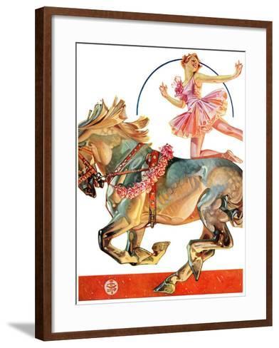 """Circus Bareback Rider,""May 14, 1932-Joseph Christian Leyendecker-Framed Art Print"