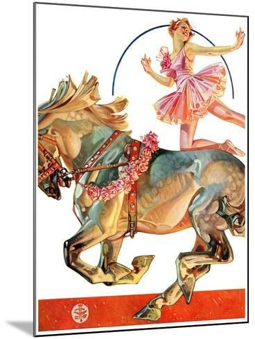 """Circus Bareback Rider,""May 14, 1932-Joseph Christian Leyendecker-Mounted Giclee Print"