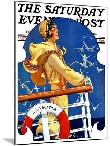 """""""S. S. Vacation,"""" Saturday Evening Post Cover, July 20, 1929-Elbert Mcgran Jackson-Mounted Giclee Print"""