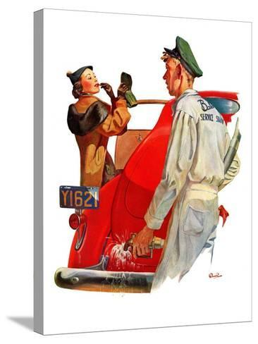 """""""Fill'er Up,""""April 3, 1937-McCauley Conner-Stretched Canvas Print"""