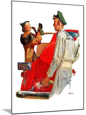 """""""Fill'er Up,""""April 3, 1937-McCauley Conner-Mounted Giclee Print"""