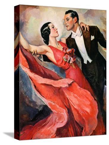 """""""Ballroom Dancing,""""April 10, 1937-John LaGatta-Stretched Canvas Print"""