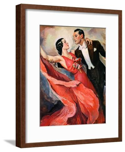 """Ballroom Dancing,""April 10, 1937-John LaGatta-Framed Art Print"