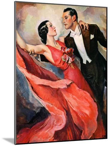 """Ballroom Dancing,""April 10, 1937-John LaGatta-Mounted Giclee Print"