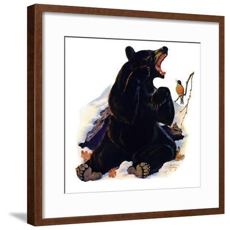 """""""End of Hibernation,""""April 17, 1937-Jack Murray-Framed Art Print"""