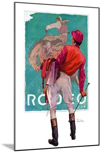 """Jockey Looks at Poster,""May 8, 1937-John E^ Sheridan-Mounted Giclee Print"
