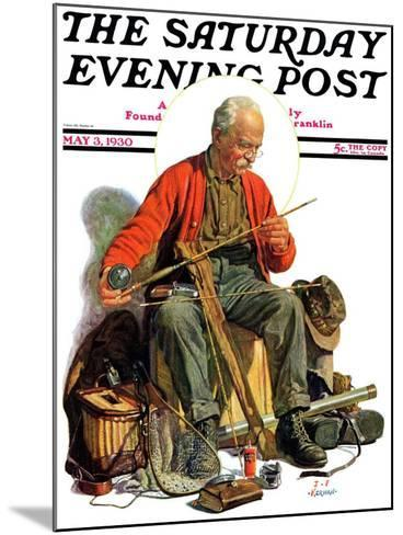 """""""Going Fishing,"""" Saturday Evening Post Cover, May 3, 1930-J^F^ Kernan-Mounted Giclee Print"""