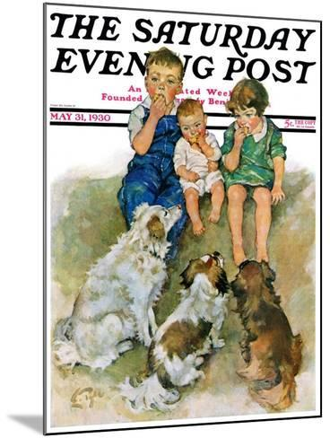 """""""Doggie Beggars,"""" Saturday Evening Post Cover, May 31, 1930-Ellen Pyle-Mounted Giclee Print"""