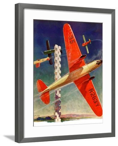 """Airshow,""September 4, 1937-Clayton Knight-Framed Art Print"