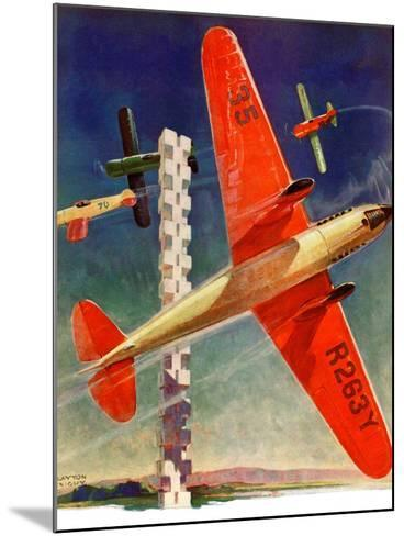 """""""Airshow,""""September 4, 1937-Clayton Knight-Mounted Giclee Print"""
