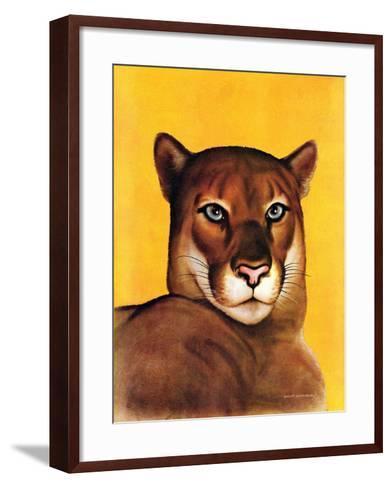 """Mountain Lions,""September 25, 1937-August Schombrug-Framed Art Print"