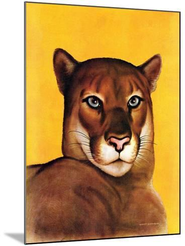 """""""Mountain Lions,""""September 25, 1937-August Schombrug-Mounted Giclee Print"""