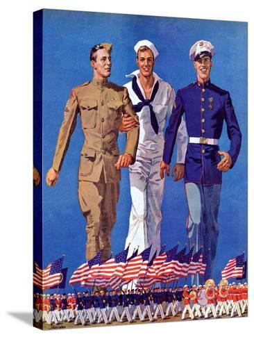 """Army, Navy and Marines,""November 13, 1937-John E^ Sheridan-Stretched Canvas Print"