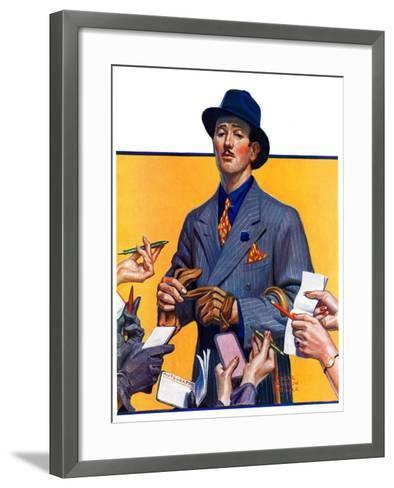 """Movie Idol,""February 5, 1938-Edgar Franklin Wittmack-Framed Art Print"