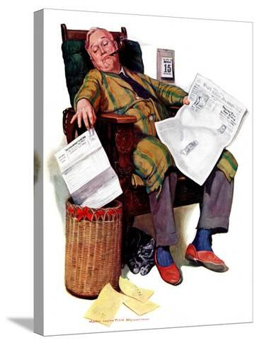 """Tax Deadline,""March 19, 1938-John Newton Howitt-Stretched Canvas Print"