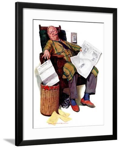 """""""Tax Deadline,""""March 19, 1938-John Newton Howitt-Framed Art Print"""